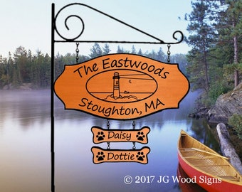 Personalized Beach Family Name Sign - Outdoor Name Sign Lighthouse Sign w Sign Holder Option - RV Name Sign - JGWoodSigns - Etsy Eastwood