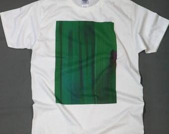 Glitch Shirt (green print)