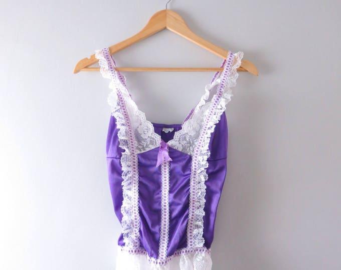 Purple Camisole | Vintage Purple Cami Camisole | 1970s Cami Lingerie Top S