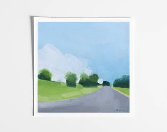 Landscape Art Print - Country Road Painting