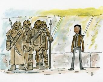 jIvuylaH. jIve' - illustration inspired by  Star Trek Into Darkness