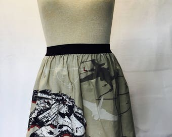 """Star Wars Ladies Skirt from upcycled vintage fabric -  Fits Size  28"""" - 34"""" waist"""