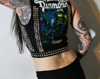 King Diamond Abigail Studded Denim Vest