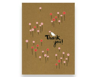 Field of Poppies Thank You Card
