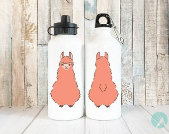 Alpaca Lover Gift, Cute Water Bottle, Unique Gifts for Women, Llama Gifts, Llama Print, Alpaca Print, Alpaca Art, Llama Art, Waterbottle