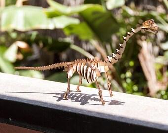Sauropod Skeleton Model / Puzzle - Laser-Cut Baltic Birch Dinosaur