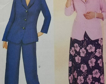 Delta Burke Design Pattern Butterick 6479 Womens Top Skirt and Pants Pattern Womens Size 22W 24W 26W Womens Business Wardrobe