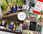 CUSTOM ORDER Design and Photo Retouching Collage Christmas Holiday Card Family Kids Couple Pets Business - Digital and Prints Available!