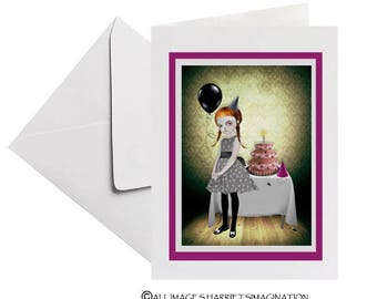 Birthday Card - Goth Girl Birthday Card - Its My Party & I'll Cry If I Want To