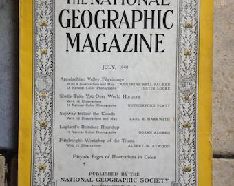July, 1949 National Geographic Magazine
