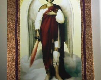 Gratitude Blank Accordion Book With Archangel Michael Image