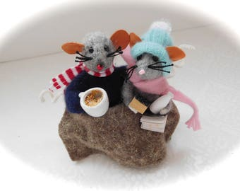Needle felted mice - felt mouse - cute mouse - felt mouse -  - Handmade mouse - felt cute mouse - cute little mouse