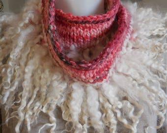 Funky handmade short scarf