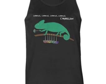 Camming Chameleon Climbing Shirt   Black or White   Men's or Women's Fit   T-Shirt & Vests
