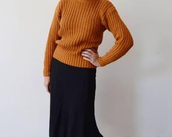 1980s Golden Brown Sweater - S/M