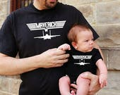 2 shirts | Father Son Matching Shirts | Maverick And Goose | Fathers Day Gift | New Baby | First Fathers Day | Daddy and Me | FREE Shipping!