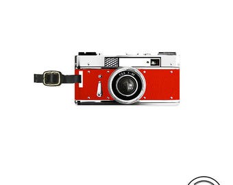 Luggage Tag Personalized Luggage Tag Retro Red Camera Metal Tag Personalized Custom Single Tag