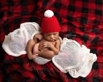 Newborn Santa Hat Pattern, Newborn Christmas Hat Pattern, Baby Christmas Hat, Baby Santa Hat, Newborn Photo Prop Pattern Newborn Hat Pattern