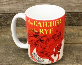 The Catcher in the Rye mug Book Gifts under 15 Librarian Gifts for Teachers Tea 15 oz ceramic mug JD Salinger holden caulfield YA fiction