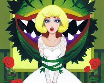 Don't Feed the Plants: Little Shop of Horrors Audrey 11x14 Fine Art Print