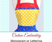 Personalized Custom Embroidery Monogram or Lettering on Aprons (Embroidery Only) - Purchase Apron Separately (DP)
