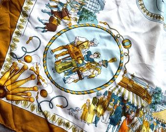 Vintage Designer Hermes Silk Scarf - Promenades de Paris