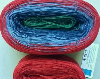 KAL Kit ~ TARTAN II --  Color Changing Cotton yarn -  Fingering Weight -- 960 yards