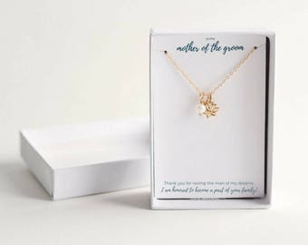 Mother of the Groom Gift from Bride - Wedding Gift for Mother of the Groom - Mother of Groom Gift - Silver Mother of the Groom Necklace
