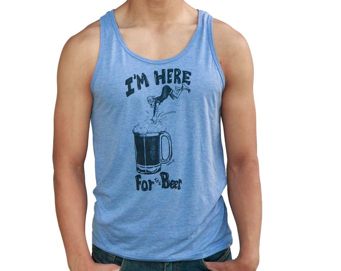 Featured listing image: I'm Here for the beer   Soft Lightweight Tank top   Dive