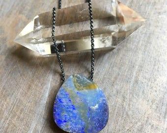 Boulder Opal Necklace, Opal Pendant, Koroit Opal Necklace, Australian Opal, Opal Silver Necklace, Opal Gold Necklace, Pendant, Karina Grace