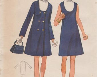 Butterick 5603 / Vintage 60s Sewing Pattern / Dress And Coat / Half Size / Bust 45