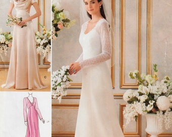 Simplicity Sewing Pattern 1909 / Wedding Dress Bridal Gown / Bridesmaid Bride / Sizes 14 16 18 20 22