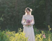 1930s Wedding Dress / 30s Wedding Dress / Art Deco Wedding Dress / Satin / Liquid Satin / Ivory / Vintage Wedding Dress