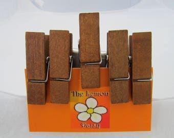 Maple Clothespin Magnets, Free Shipping, Set of 5, Fridge Magnets, refrigerator magnets, teacher gift, office gift,  stocking stuffer
