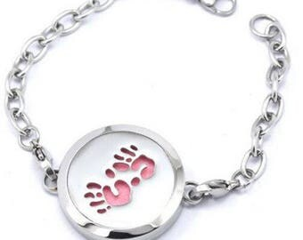 Baby Footprint Essential Oil Diffuser Bracelet for Moms and Moms-to-be