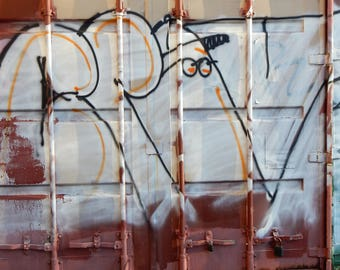 Graffiti Street Art Baltimore P.R.e.P. Original Photograph signed phipps y moran Flipping Gypsy Photography Free Mat Ready To Frame