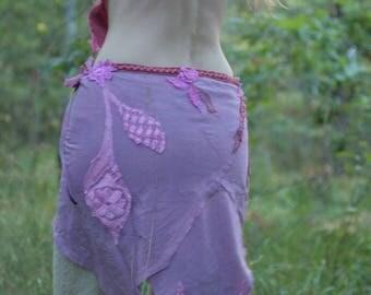 Vibrant sunset festival fractal petal skirt