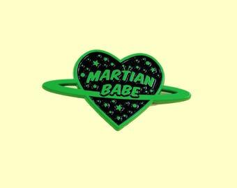 Martian Babe - Green Soft Enamel Pin