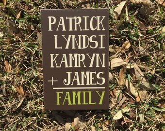 Family Math Sign ~ Family Addition ~ Flash Card ~ Family Flashcard ~ Addition Sign ~ Family Number Sign ~ Blended Family Sign ~ Family Gift