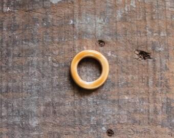 Anello ceramica giallo/ocra