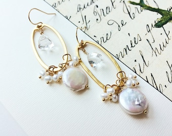 Bridal Earrings, Wedding Earrings, Pearl Earrings, Bohemian Wedding