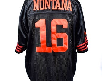 Joe Montana San Francisco Forty Niner, Size 50, 1990 Style Joe Montana 49ers Jersey, Ecellent Condition, 100% Nylon