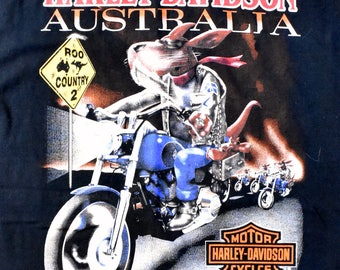 1997 Australian HARLEY DAVIDSON T-Shirt, Size Large