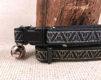 Deathly Hallows Cat Collars