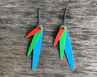 Parrot Swing Earrings, FREE shipping