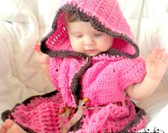 CROCHET PATTERN Baby Beach Cover-Up - PDF Crochet Pattern