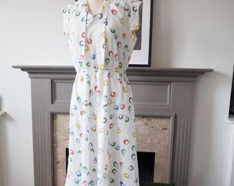 Vintage 1930s style print dress