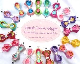 Baby Hairclip Kanzashi Bow clip Pick your Color
