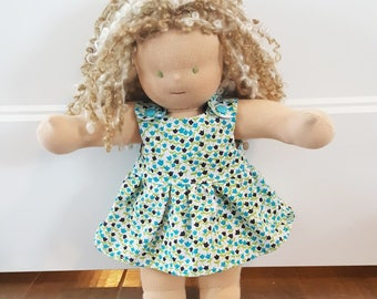 Waldorf Doll Clothes - 14 to 16 inch - Floral Dress