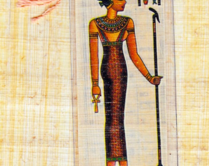 Goddess of fertility. Genuine Egyptian papyrus bookmark! Great gift for teachers, kids, adults!
